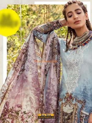 MARIA B Latest Embroidered Lawn Eid Collection Replica