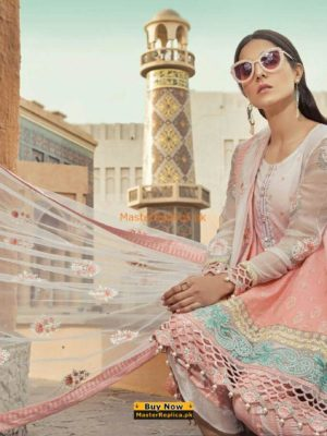 MARIA B Luxury Embroidered Lawn Eid Collection Replica