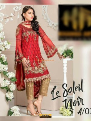 MARYAM'S Luxury Embroidered Chiffon Eid Colleciton Replica