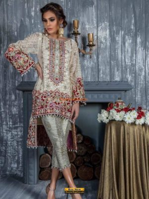 MINA HASSAN Latest Embroidered Chiffon Eid Collection Replica