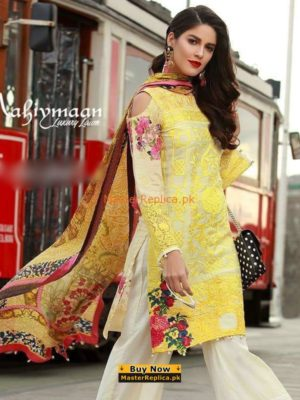 Mahiymaan Latest Embroidered Lawn Collection Replica