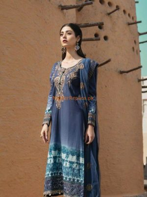 Maria B D-04 Luxury Embroidered Summer Lawn Collection 2018 Replica