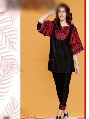 Mausammary Latest Embroidered Summer Chiffon Collection Kurti Replica