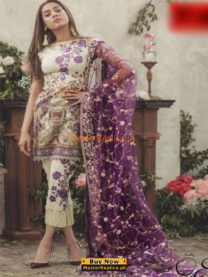 NOOR BY SADIA ASAD Luxury Embroidered Eid Lawn Collection Replica