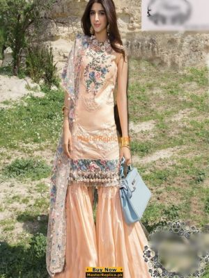 NOOR BY SADIA ASAD Latest Embroidered Eid Lawn Collection Replica