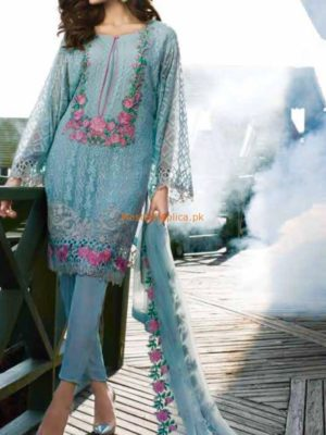 REEMAL KHAN Luxury Embroidered Chiffon Collection Replica
