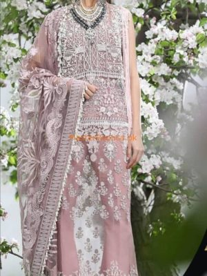 SANA SAFINAZ Luxury Embroidered Net Eid Collection Replica
