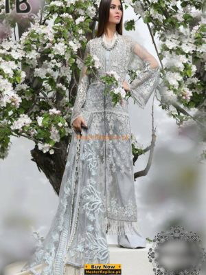 SANA SAFINAZ Latest 01B Embroidered Net Eid Collection Replica