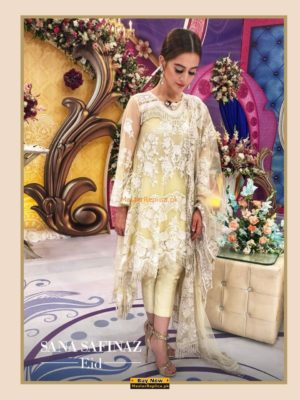 SANA SAFINAZ Luxury 18-04A Embroidered Bridal Net Collection Replica