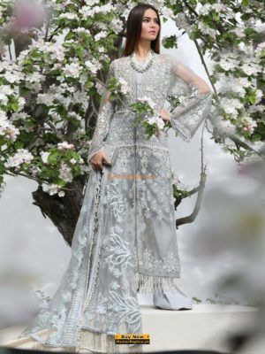 SANA SAFINAZ Latest 18-01B Embroidered Net Collection Replica