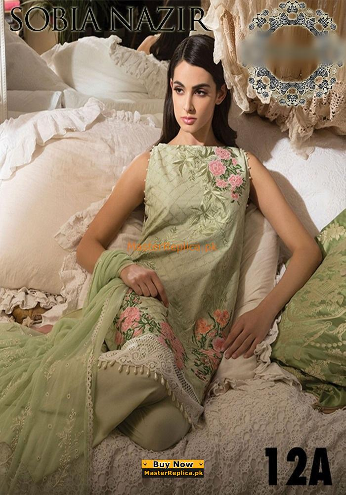 SOBIA NAZIR Latest 12-A Embroidered Summer Lawn ColleSOBIA NAZIR Latest 12-A Embroidered Summer Lawn Collection Replica ction Replica
