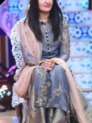 Shaista Lodhi Luxury Embroidered Mesouri Eid Collection Replica