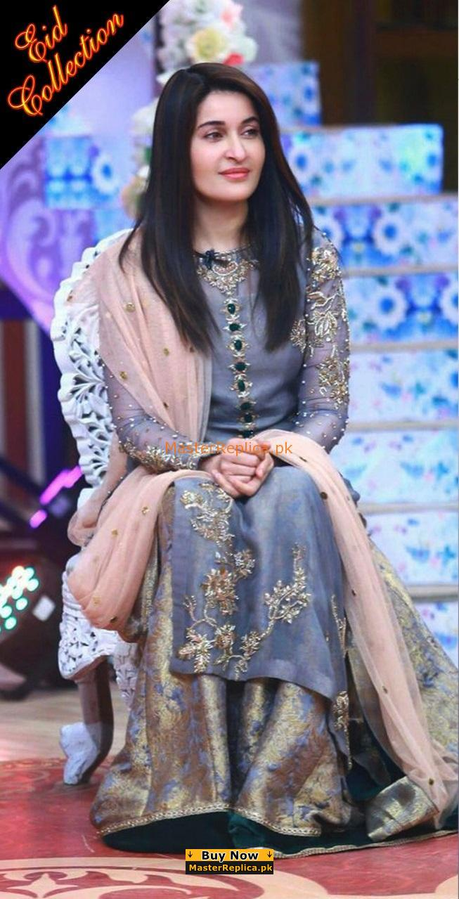 1d1a04adc1 Shaista Lodhi Luxury Embroidered Mesouri Eid Collection Replica