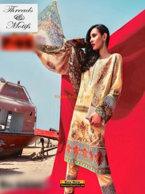 THREADS & MOTIFZ Latest Embroidered Summer Lawn Collection Replica
