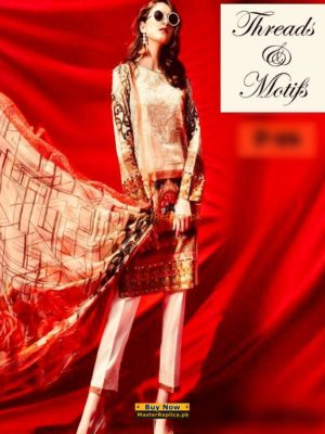 THREADS & MOTIFZ Luxury Embroidered Summer Lawn Collection Replica