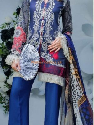 ZAINAB Chottani Latest Embroidered Lawn Eid Collection Replica