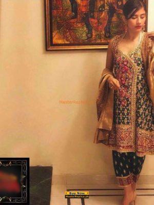 FARAH TALIB Luxury Embroidered Chiffon Collection Replica