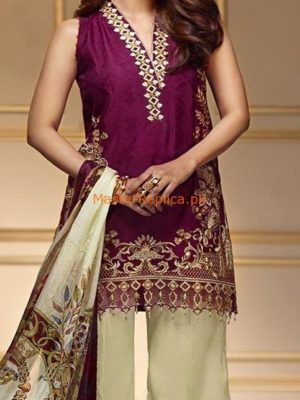 ANAYA Luxury ROSE GOLD Embroidered Lawn Collection Replica
