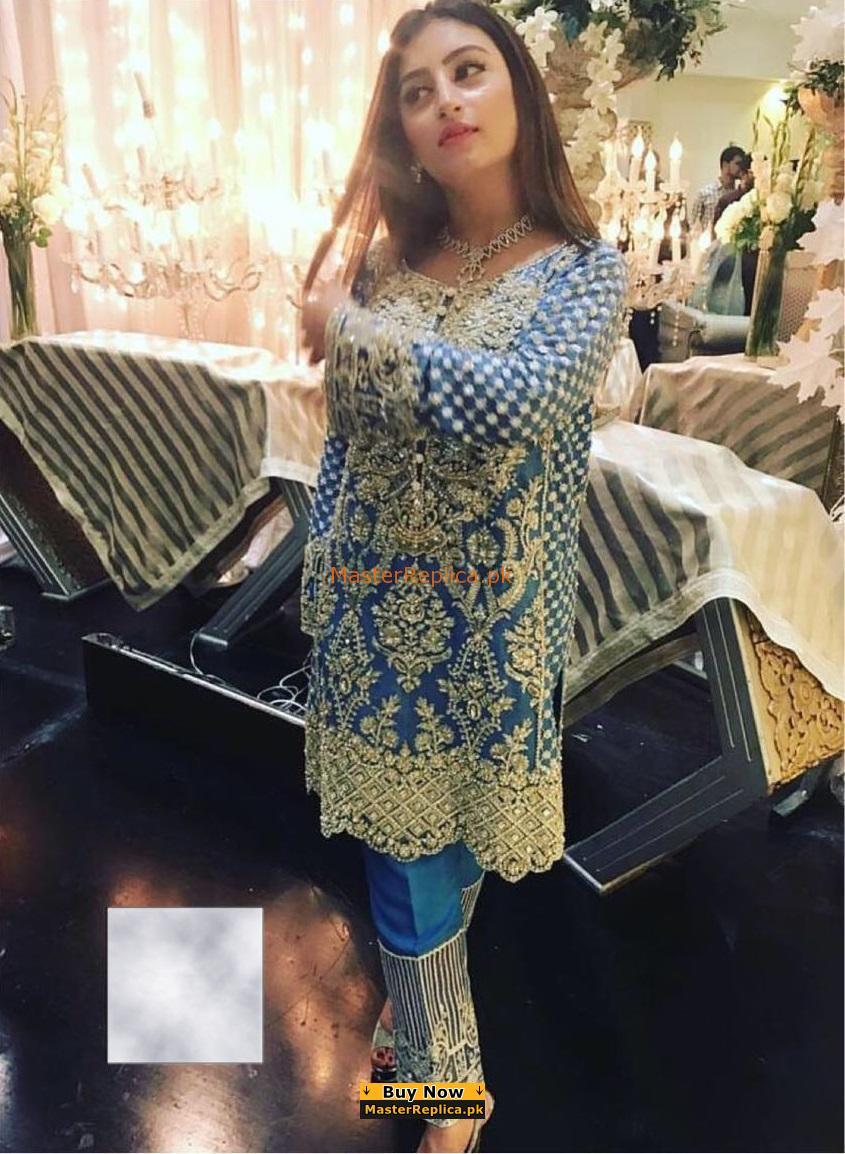 ANNA LAGHARI Luxury Embroidered Chiffon Collection Replica