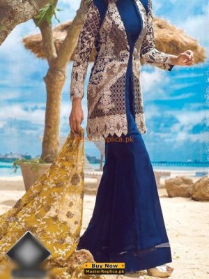 Asim Jofa Luxury Alc-1a Embroidered Chiffon Collection Replica