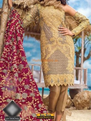 ASIM JOFA Luxury Alc-1b Embroidered Chiffon Collection Replica