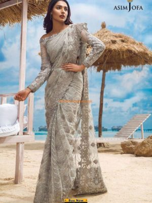ASIM JOFA Luxury ALC-6A Embroidered Net Collection Replica