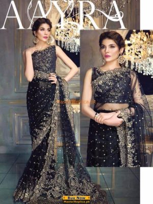 AYRA Luxury Embroidered Chiffon Saree Collection Replica