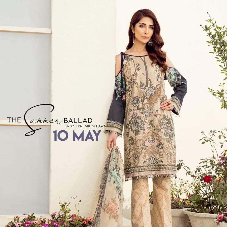 BAROQUE Luxury Celena Embroidered Summer Lawn Collection Replica