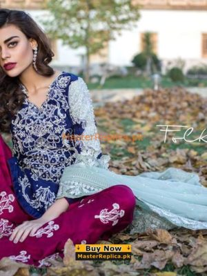 ERUM KHAN Luxury Embroidered Chiffon Collection Replica