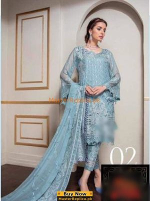 ESHAL Luxury Embroidered Festive Chiffon Collection Replica