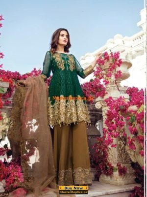 IMROZIA Latest Luxury The Star Dust Embroidered Chiffon Collection Replica