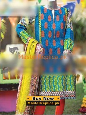 JUNAID JAMSHED Luxury Embroidered Summer Lawn Collection Replica