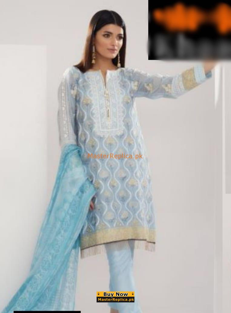 KHAADI KHAAS Luxury Embroidered Net Collection Replica