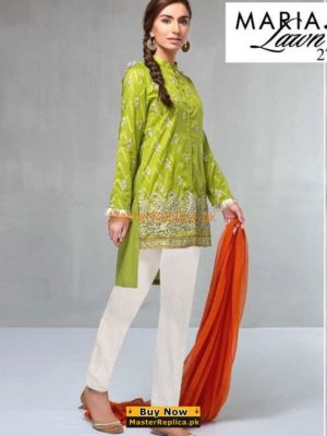Maria B Luxury Suit Green DW-2106 Embroidered Lawn Collection Replica