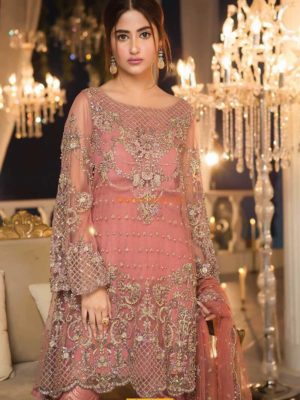 MARIA B Luxury MCT-1 Embroidered Chiffon Collection Replica
