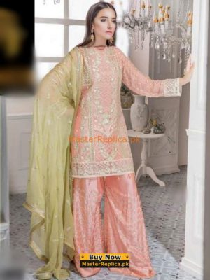 MARYAM'S Luxury Embroidered Chiffon Collection Replica