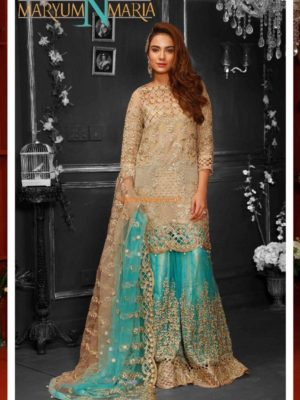 MARYAM'S Luxury GLITZ MM-10 Embroidered Net Collection Replica