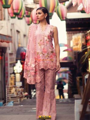 MINA HASSAN Luxury Embroidered Net Collection Replica