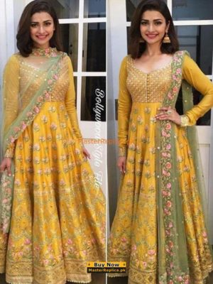 NOMI ANSARI Luxury Festive Embroidered Chiffon Collection Replica