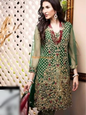 REHAN MUZAMMIL Luxury Embroidered Net Collection Replica