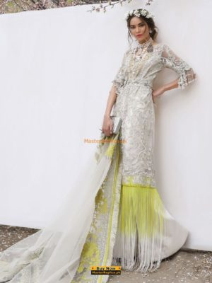 SANA SAFINAZ Luxury Embroidered 18-05B Net Collection Replica