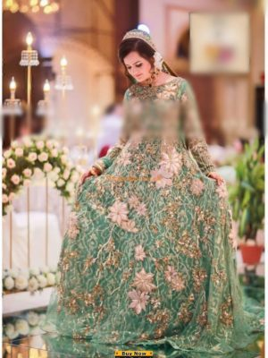 SANA SAFINAZ Luxury Embroidered Bridal Chiffon Collection Replica