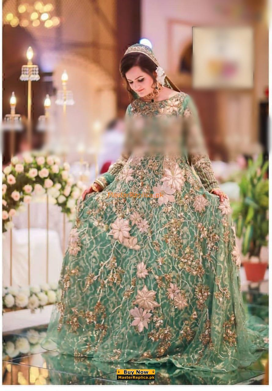 SANA SAFINAZ Luxury Embroidered Bridal Chiffon Collection Replica