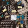 SANA SAFINAZ Luxury 18-02B Embroidered Net Collection Replica