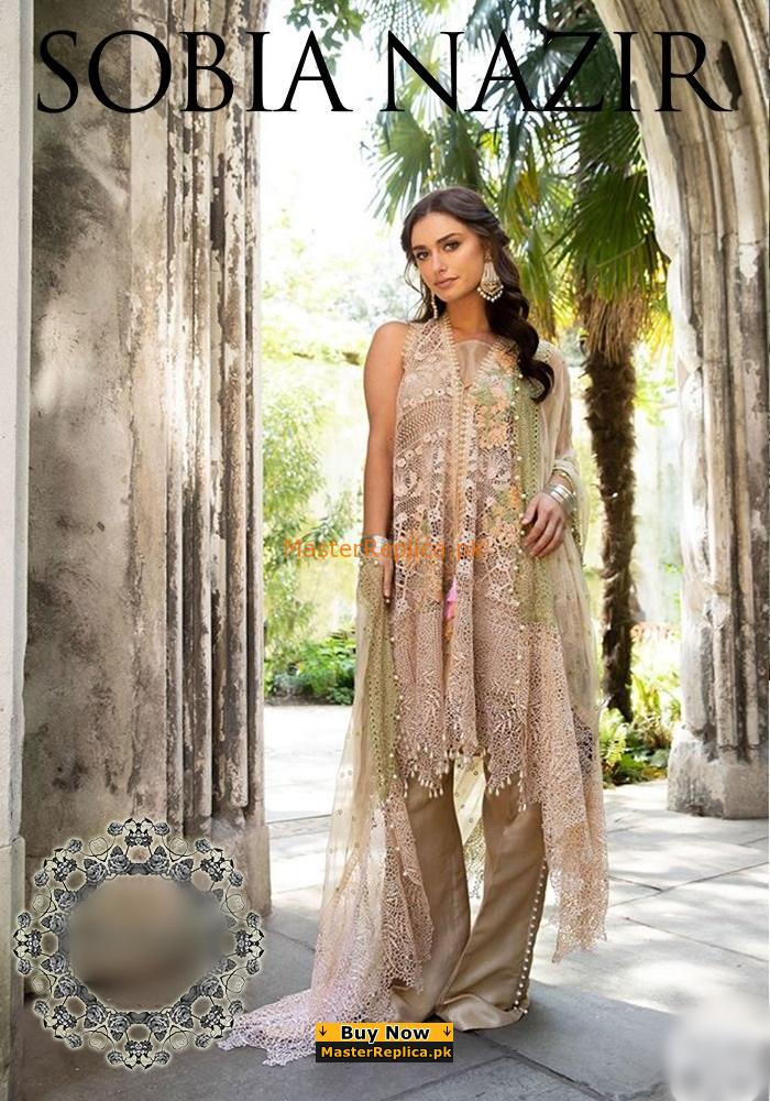 SOBIA NAZIR Luxury 6-B Embroidered Net Collection Replica