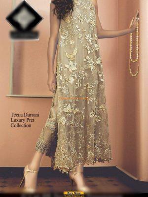 TENA DURRANI Festive Luxury Embroidered Net Collection Replica