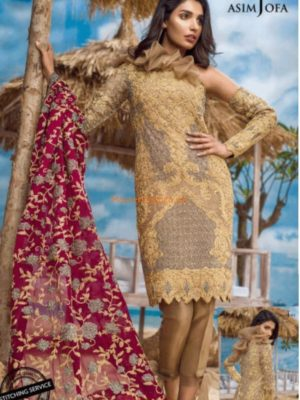 ASIM JOFA Latest Alc-1b Embroidered Maysuri Collection Replica