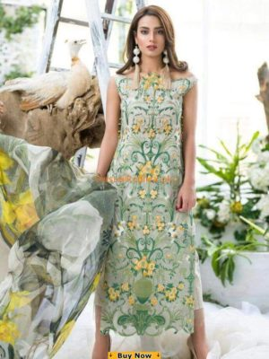 ASIFA NABEEL Luxury 1A – Lush Embroidered Summer Lawn Collection Replica