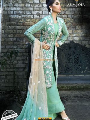 ASIM JOFA Luxury Embroidered AJ-02A Chiffon Collection Replica