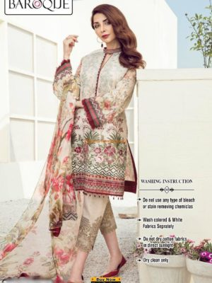 BAROQUE Luxury Eleni Embroidered Summer Lawn Collection Replica